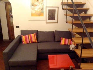 new sofa, his name is Friheten